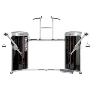 DUAL CABLE COLUMN AND CHIN UP / DIP MACHINE