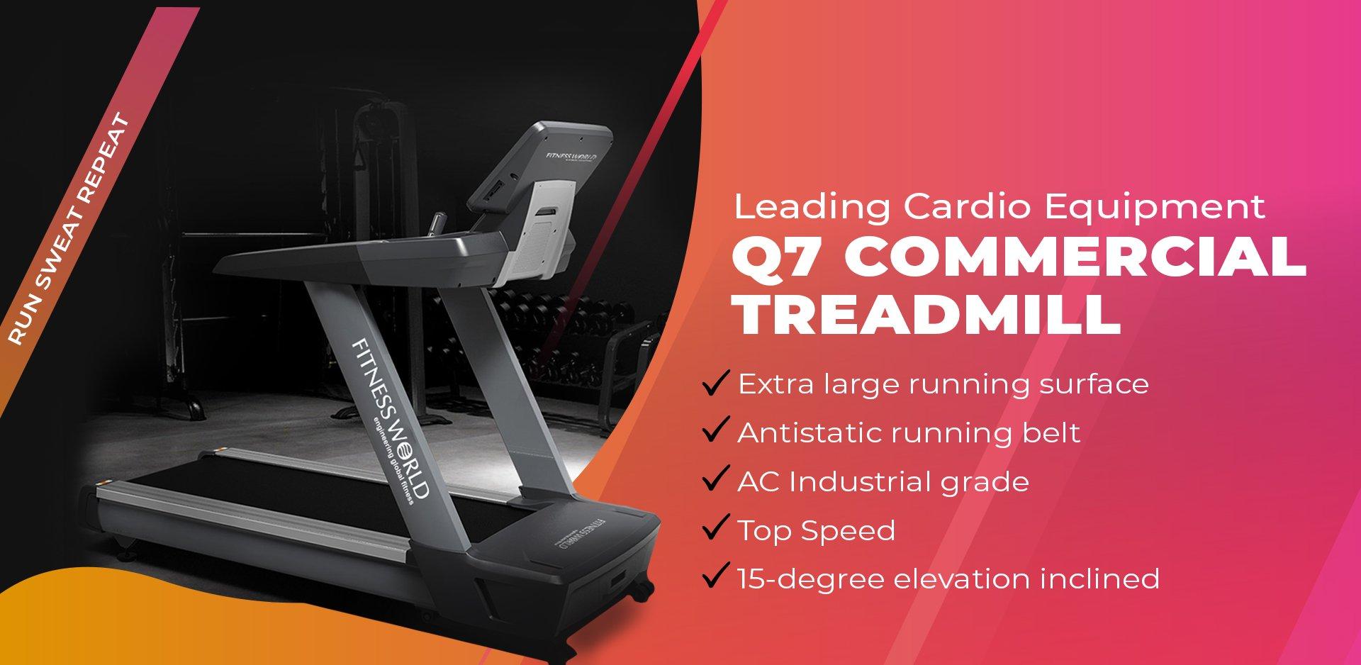 Q7 Commercial Treadmill Banner
