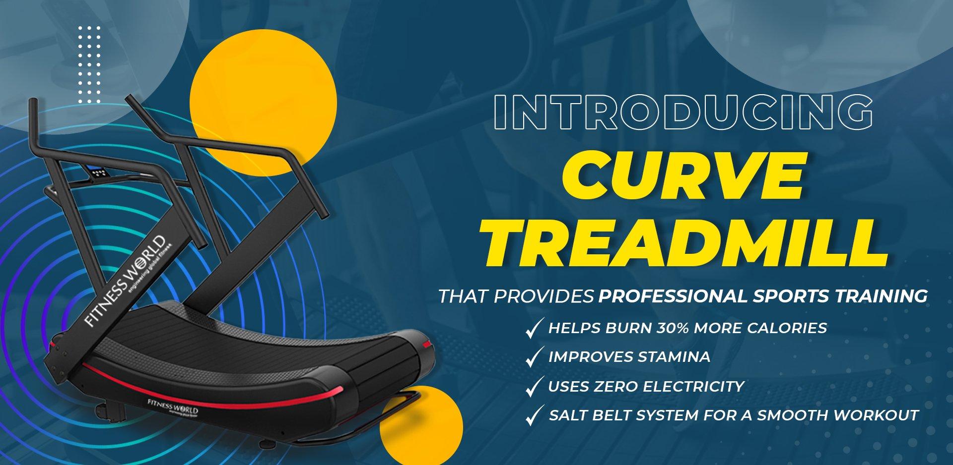 Curve Treadmill Banner