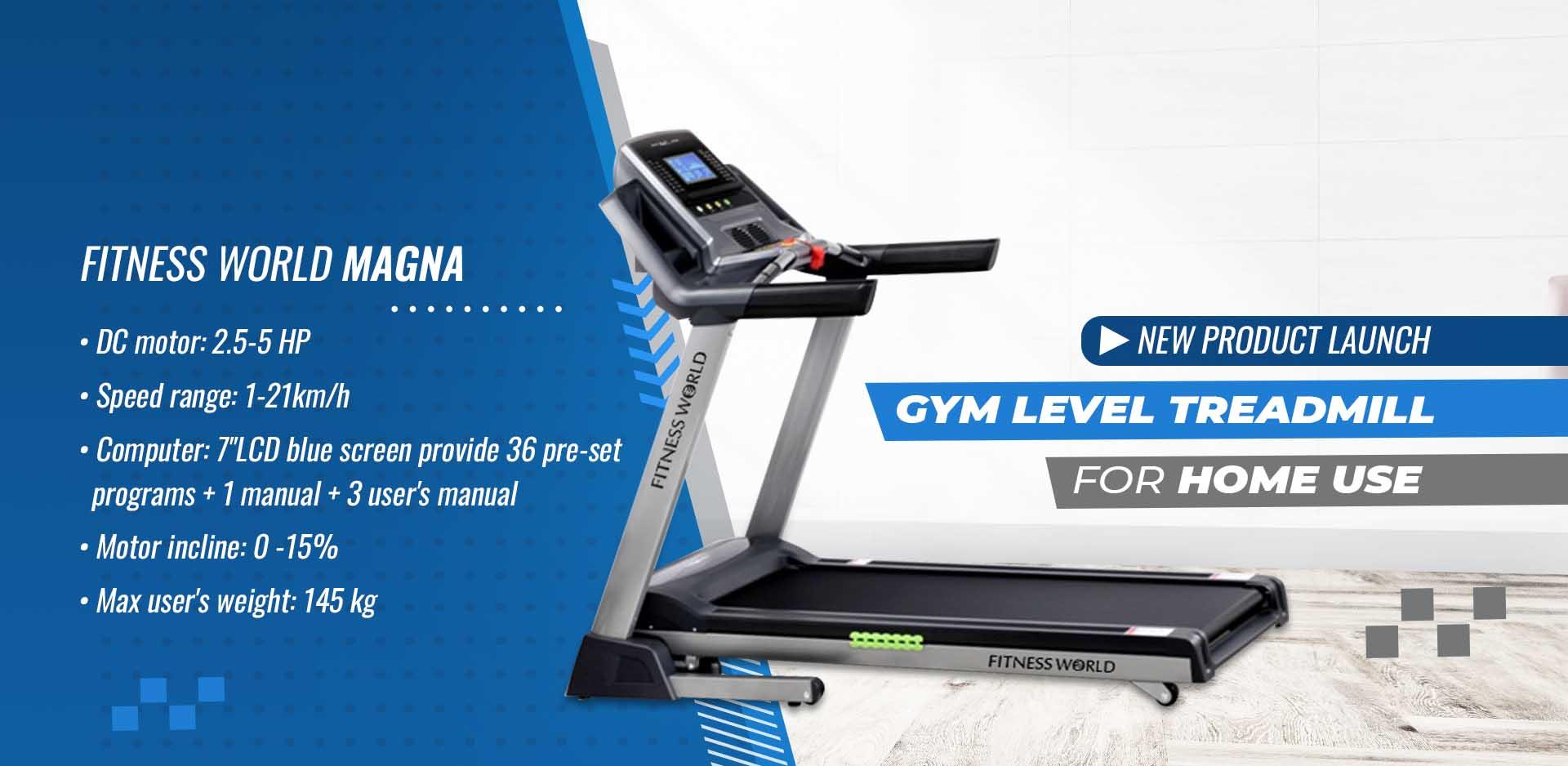 Fitness World Magna Treadmill Banner